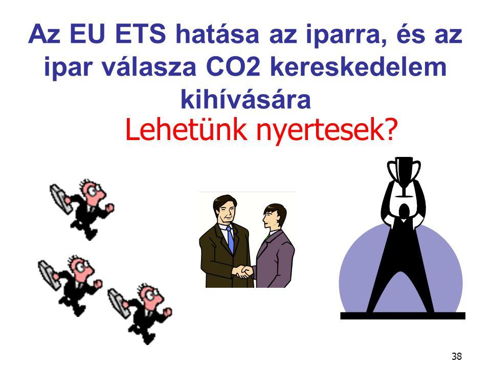 38 Lehetünk nyertesek? Az EU ETS hatása az iparra, és az ipar válasza CO2 kereskedelem kihívására