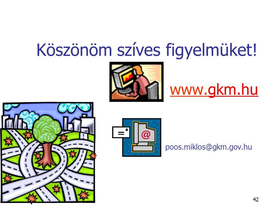42 Köszönöm szíves figyelmüket! www.gkm.hu poos.miklos@gkm.gov.hugkm.hu
