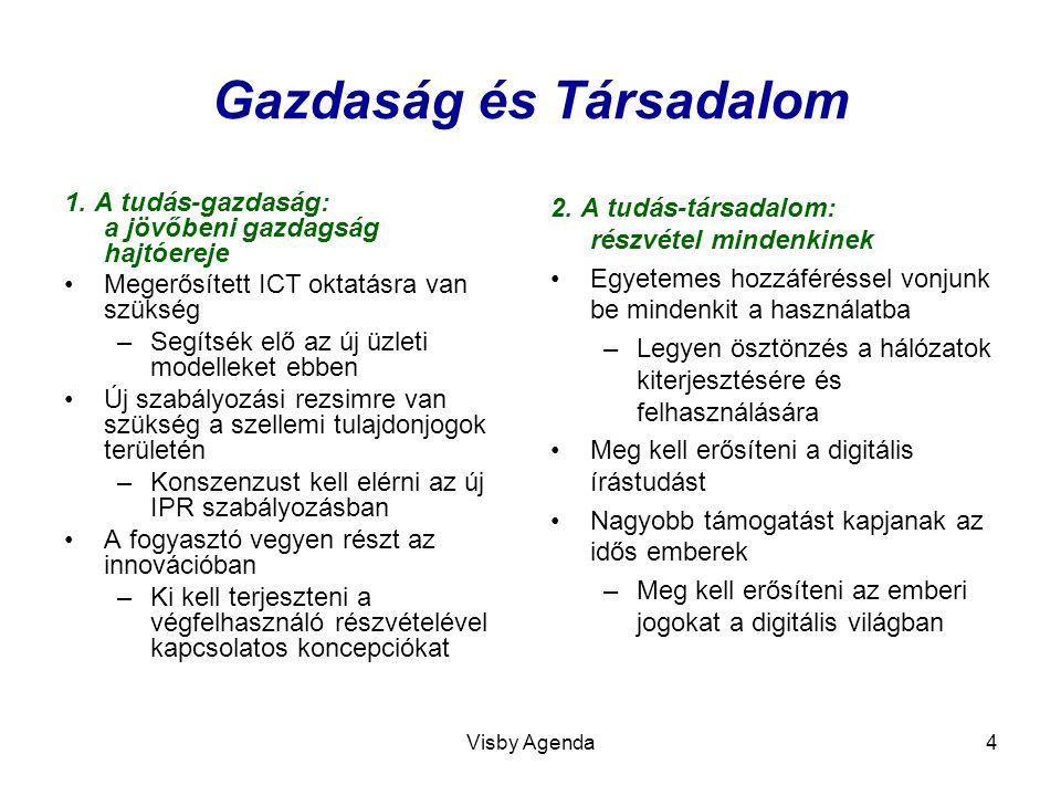 Visby Agenda5 Zöld ICT és új infrastruktúra 3.