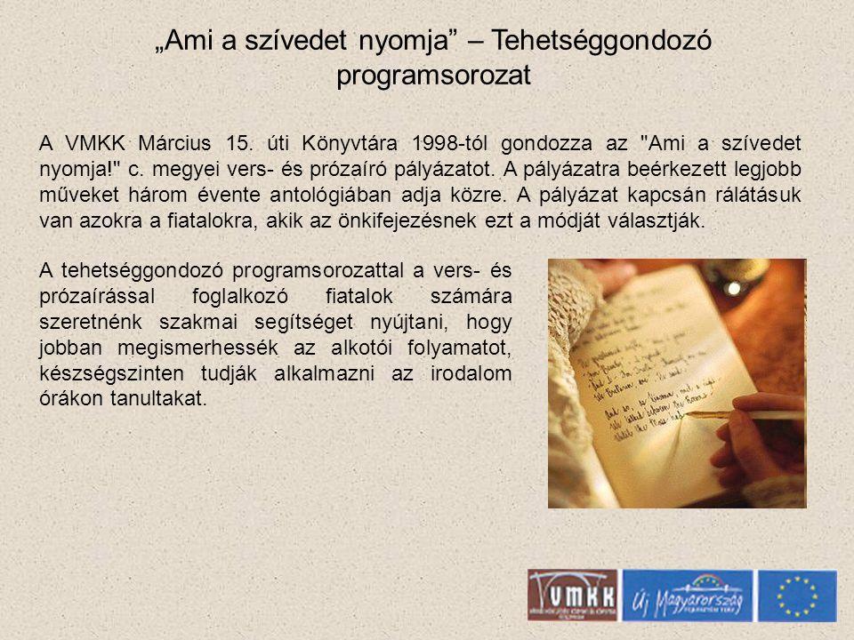 Mindentudó Ház Tudományos-, ismeretterjesztő előadássorozat A magyar tudományos élet legnevesebb képviselői, a különböző tudományterületekről tartanak előadásokat, valamint vitákat a hallgatósággal.