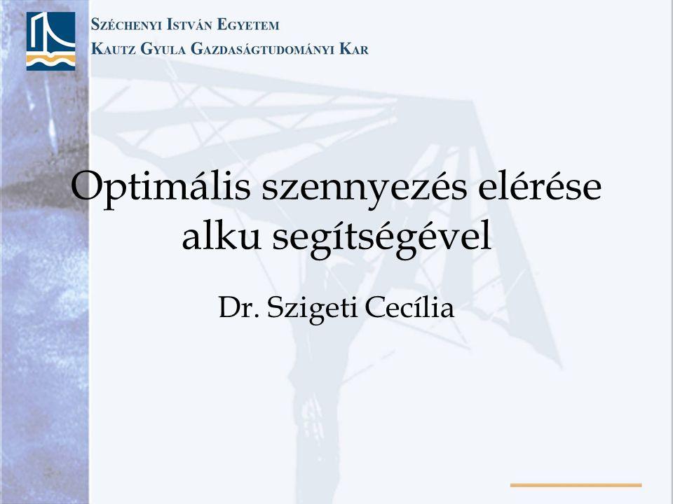 Optimális szennyezés elérése alku segítségével Dr. Szigeti Cecília
