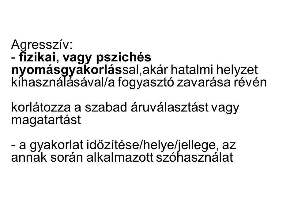 FEKETE LISTA: - CSALOGATÓ REKLÁM -MINŐSÉGI JELZÉS, V.