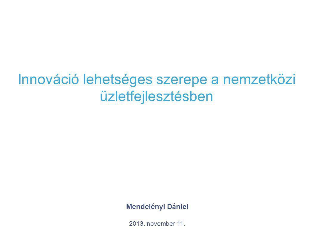2 Bevezetés 1.Közvetlen külföldi működőtőke 2.Valódi vonzerő: innováció 3.Innovációs folyamat: XX.