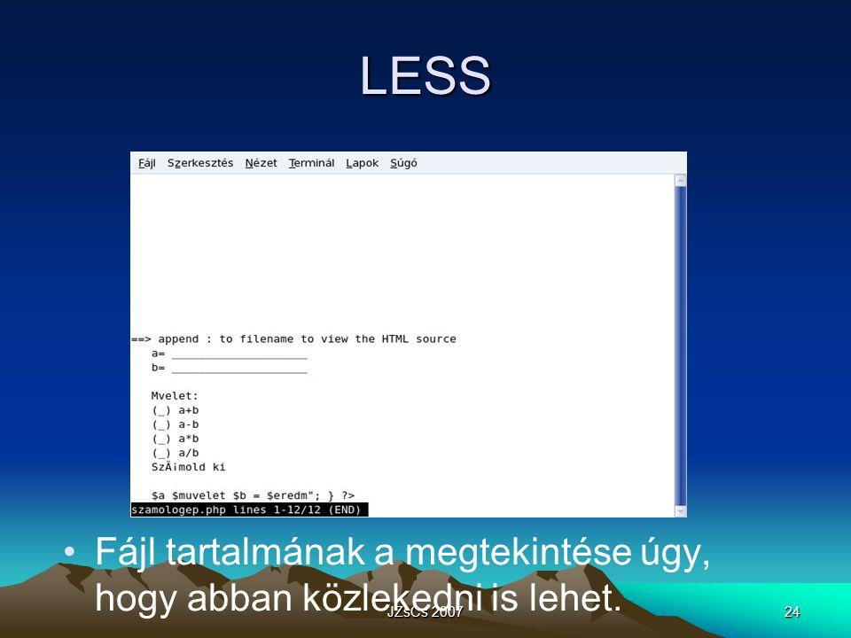 JZsCs 200724 LESS Fájl tartalmának a megtekintése úgy, hogy abban közlekedni is lehet.