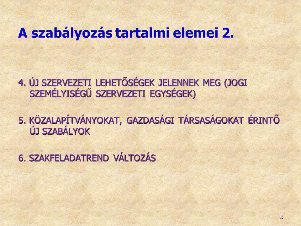9 7.7. Közfeladat ellátás gazdasági szervezetnek történő átadása, 8.