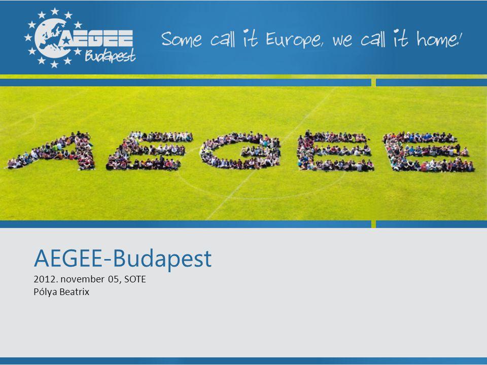 AEGEE-Budapest 2012. november 05, SOTE Pólya Beatrix