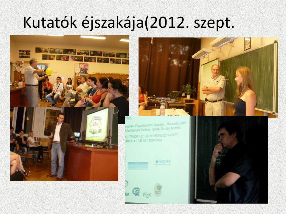 Kutatók éjszakája(2012. szept.