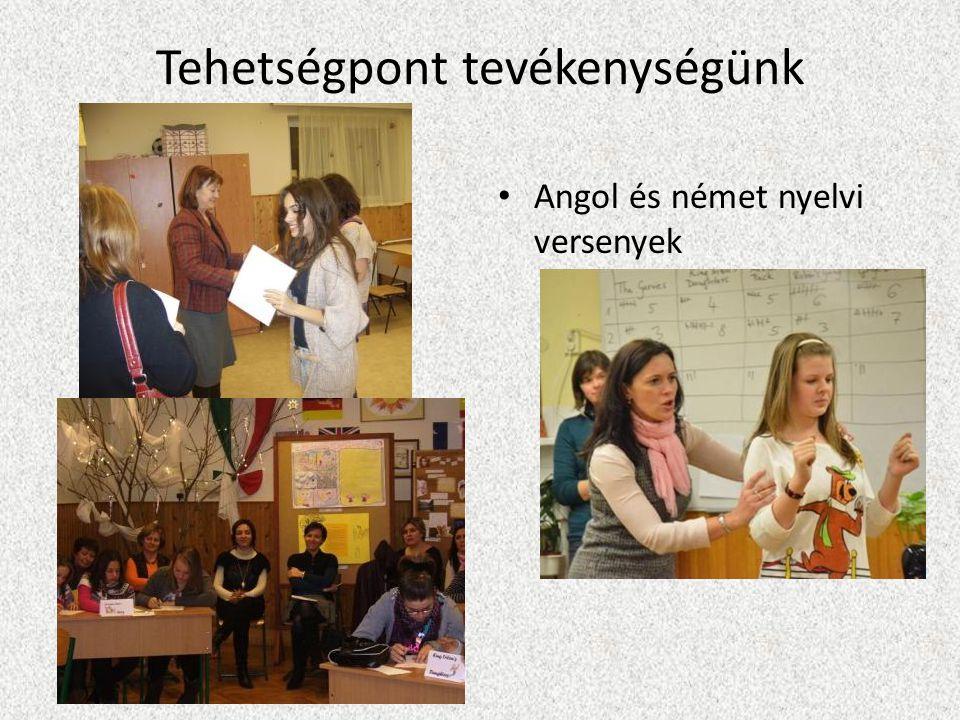 Tehetségpont tevékenységünk Angol és német nyelvi versenyek