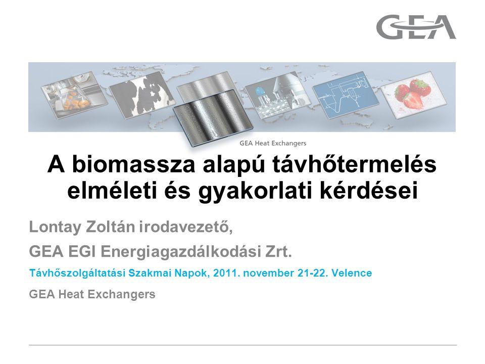 GEA Heat Exchangers Lontay Zoltán irodavezető, GEA EGI Energiagazdálkodási Zrt.