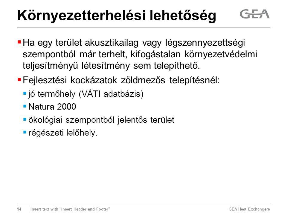 GEA Heat Exchangers 14 Insert text with
