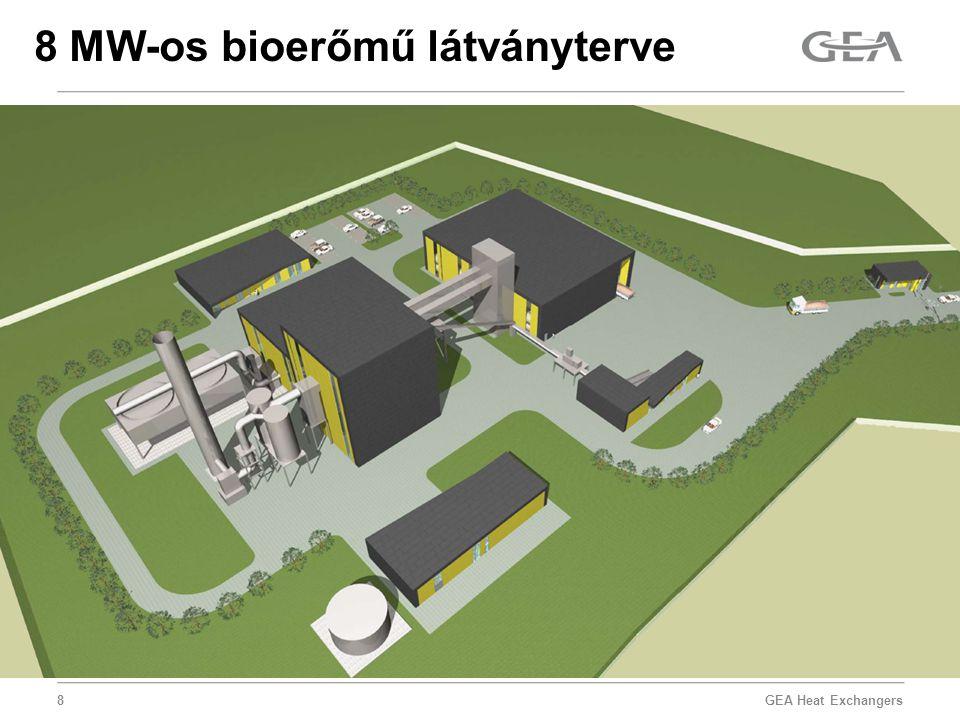GEA Heat Exchangers 8 8 MW-os bioerőmű látványterve