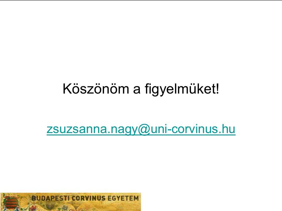 Köszönöm a figyelmüket! zsuzsanna.nagy@uni-corvinus.hu