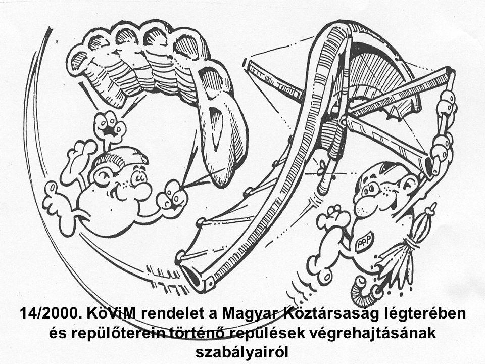 14/2000. KöViM rendelet a Magyar Köztársaság légterében és repülőterein történő repülések végrehajtásának szabályairól