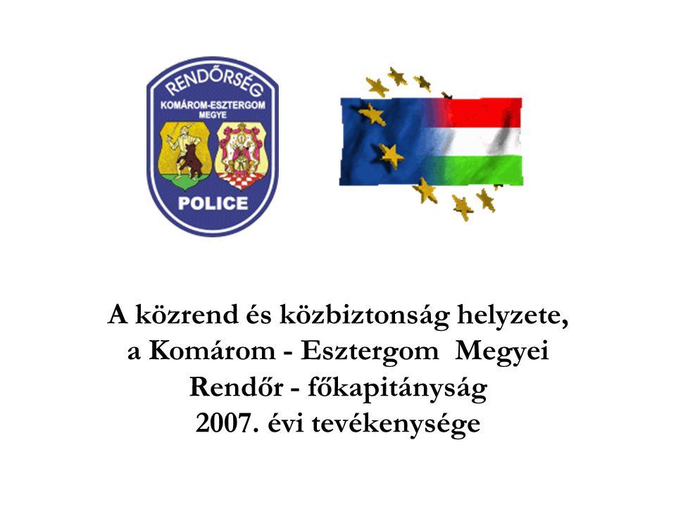 A közrend és közbiztonság helyzete, a Komárom - Esztergom Megyei Rendőr - főkapitányság 2007. évi tevékenysége