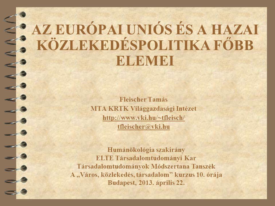 """Fehér Könyv 1992 Trans-European Networks Magyar közlekedéspolitika 2003-2015 Magyar Közlekedéspolitika 1996 ""Time to decide 2001 Pan-European Corridors, TINA 1990 2004"