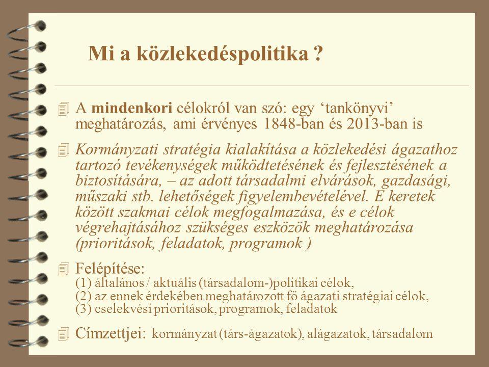 Új Magyarország Fejlesztési Terv 2006 National Strategic Reference Framework of Hungary 2007–2013 ÚMFT Közlekedési Operatív Program (KözOP) 2007 Egységes Közlekedésfejlesztési Stratégia ( EKFS ) – Zöld könyv 2007 Egységes Közlekedésfejlesztési Stratégia ( EKFS ) – Alágazati 2008 Egységes Közlekedésfejlesztési Stratégia ( EKFS ) – Fehér könyv 2007 A 2001-es WP felülvizsgálata 2006