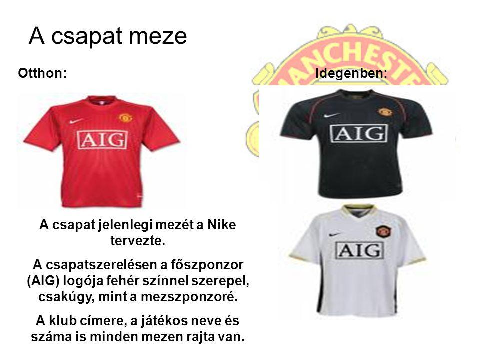 A csapat meze Otthon: Idegenben: A csapat jelenlegi mezét a Nike tervezte. A csapatszerelésen a főszponzor (AIG) logója fehér színnel szerepel, csakúg