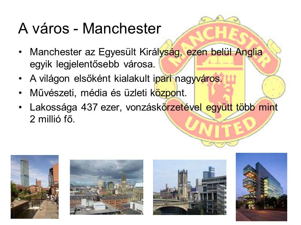 A város - Manchester Manchester az Egyesült Királyság, ezen belül Anglia egyik legjelentősebb városa. A világon elsőként kialakult ipari nagyváros. Mű