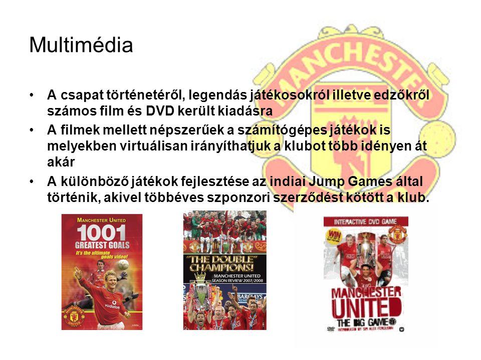 Multimédia A csapat történetéről, legendás játékosokról illetve edzőkről számos film és DVD került kiadásra A filmek mellett népszerűek a számítógépes