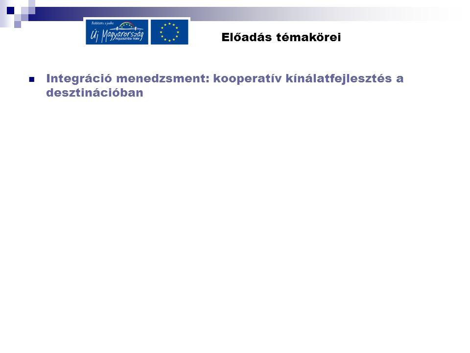 Előadás témakörei Integráció menedzsment: kooperatív kínálatfejlesztés a desztinációban