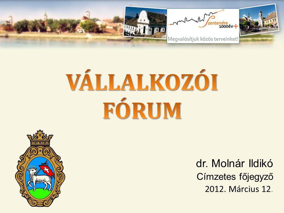 dr. Molnár Ildikó Címzetes főjegyző 2012. Március 12.