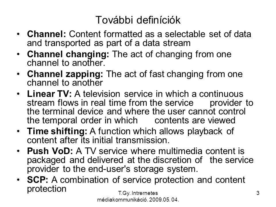 T.Gy. Intrernetes médiakommunikáció. 2009.05. 04. 4 IPTV Domains