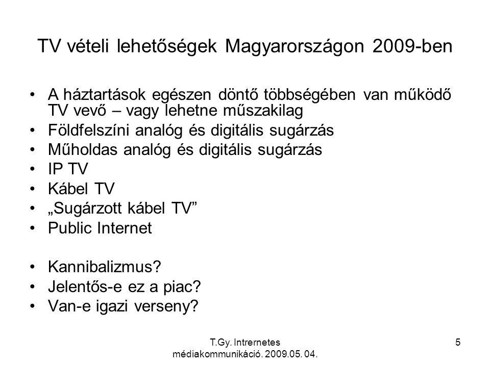 T.Gy. Intrernetes médiakommunikáció. 2009.05. 04. 6