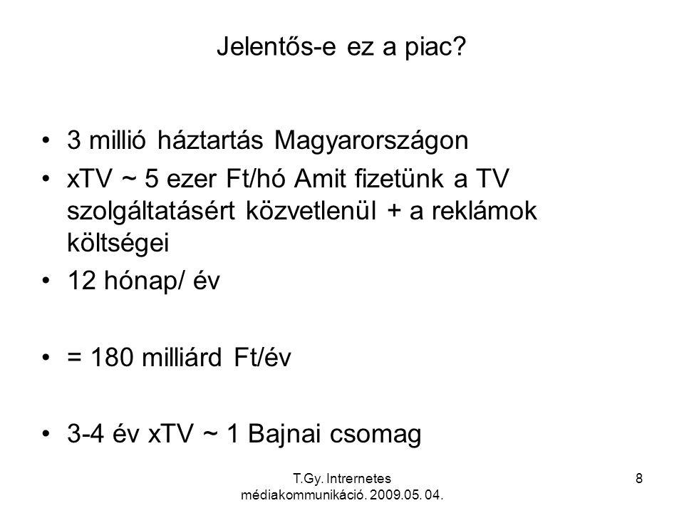 T.Gy. Intrernetes médiakommunikáció. 2009.05. 04. 19 IPTV Architectural Overview
