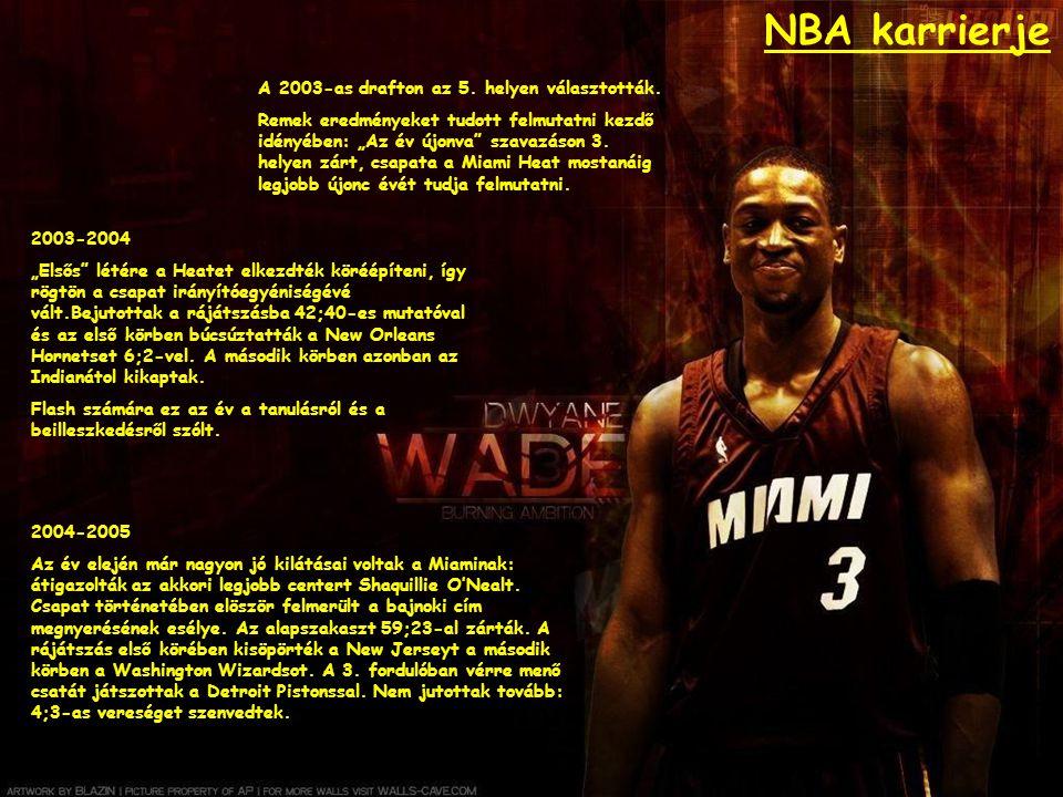 """NBA karrierje A 2003-as drafton az 5. helyen választották. Remek eredményeket tudott felmutatni kezdő idényében: """"Az év újonva"""" szavazáson 3. helyen z"""