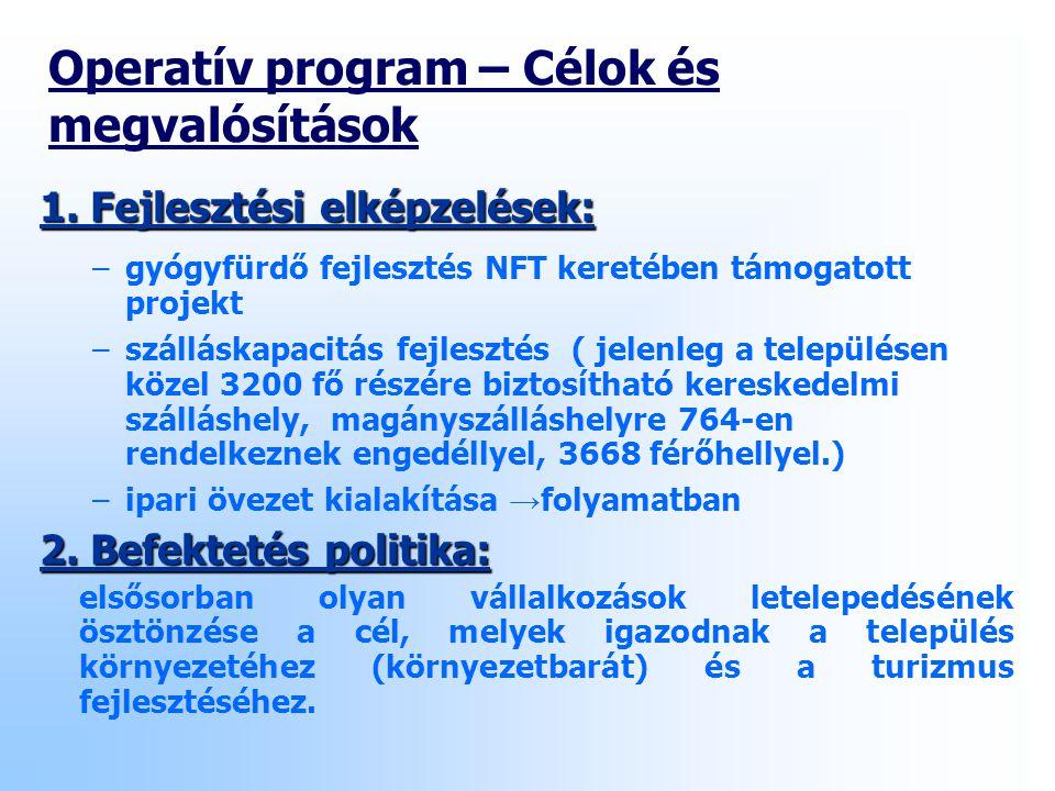 Operatív program – Célok és megvalósítások 1.
