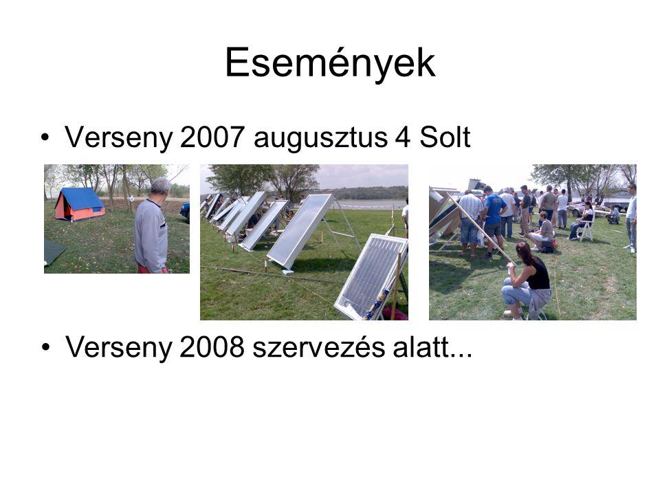 Események Verseny 2007 augusztus 4 Solt Verseny 2008 szervezés alatt...