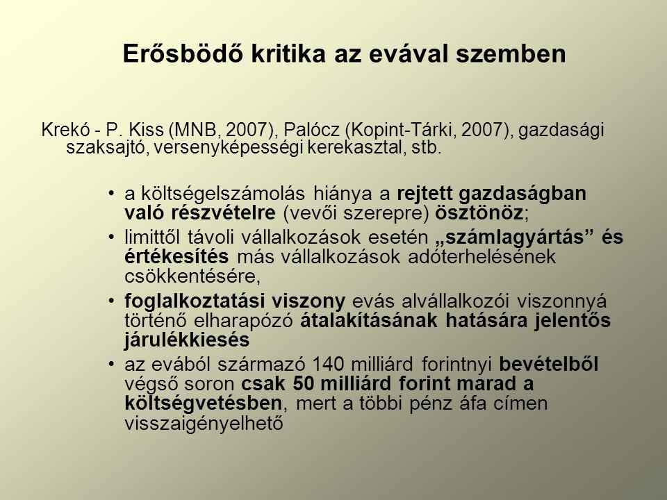 Erősbödő kritika az evával szemben Krekó - P.