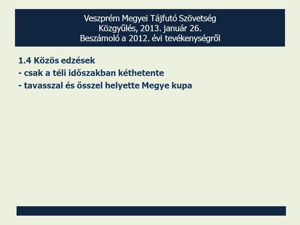 Veszprém Megyei Tájfutó Szövetség Közgyűlés, 2013.