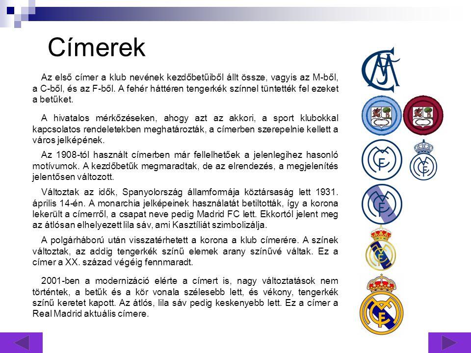 Címerek A hivatalos mérkőzéseken, ahogy azt az akkori, a sport klubokkal kapcsolatos rendeletekben meghatározták, a címerben szerepelnie kellett a város jelképének.