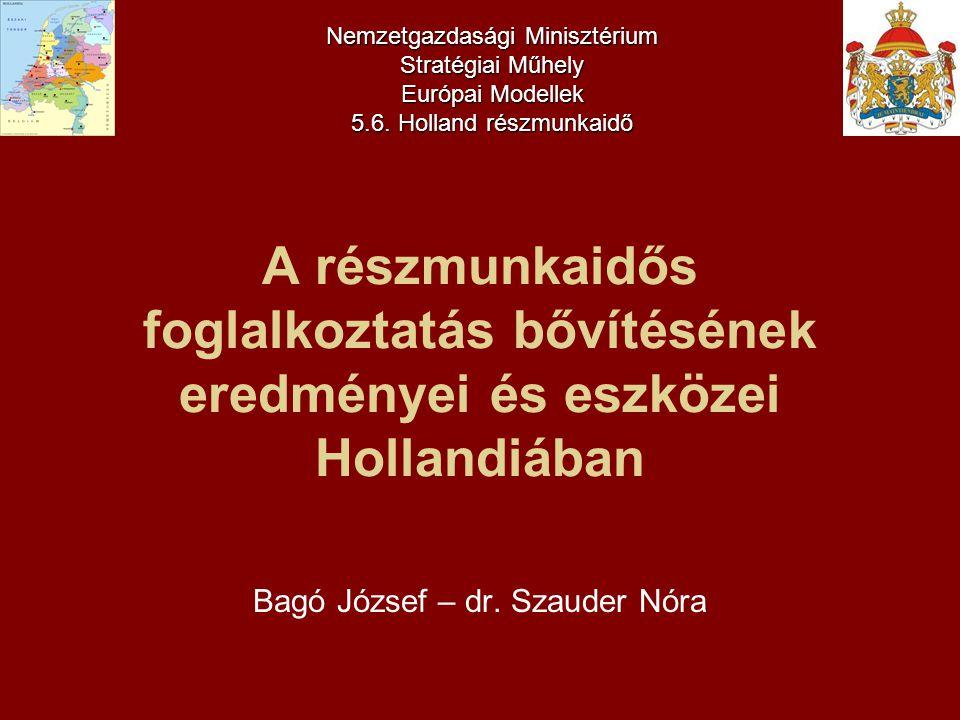 A tanulmány készítésébe bevont intézmények 1.ZÁRÓ-TANULMÁNY a holland-magyar projekt keretében végzett egy éves munkáról, amely a részmunkaidős foglalkoztatás magyarországi (a jelenleginél szélesebb körű) elterjesztése érdekében történt.