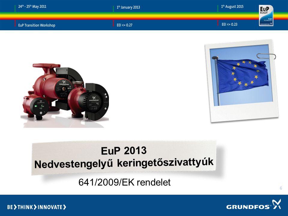 6 EuP 2013 Nedvestengelyű keringetőszivattyúk 641/2009/EK rendelet