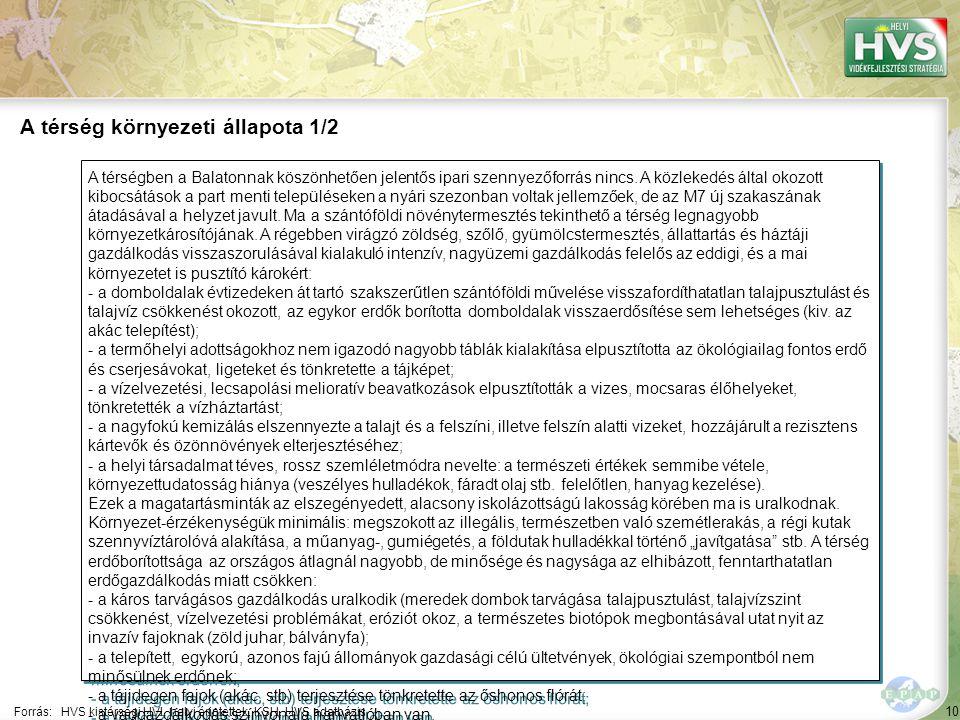 10 A térségben a Balatonnak köszönhetően jelentős ipari szennyezőforrás nincs.