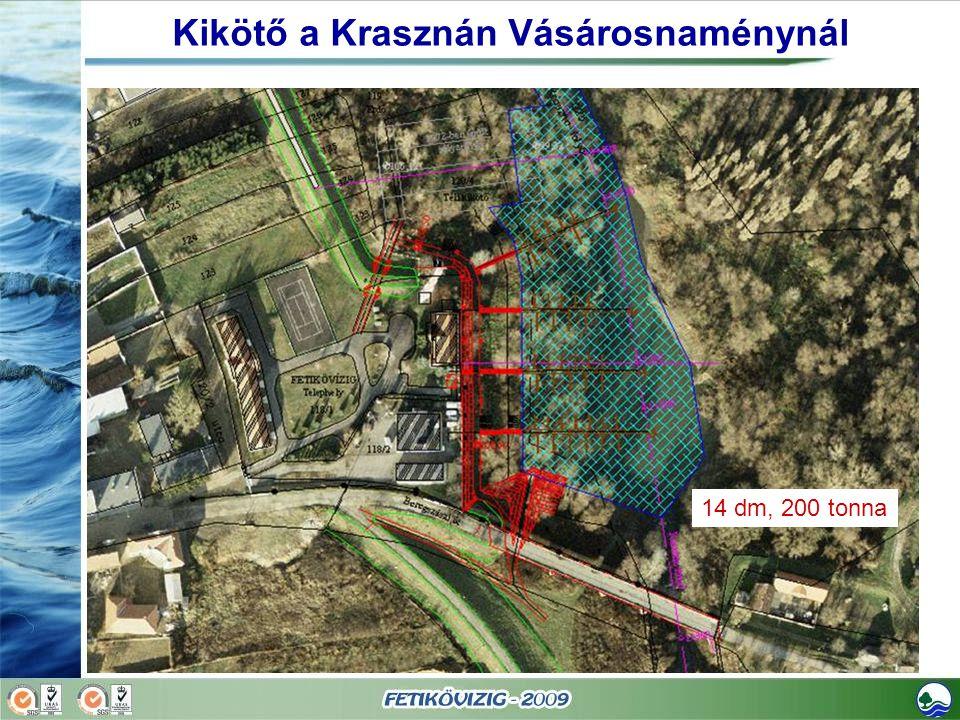 Kikötő a Krasznán Vásárosnaménynál 14 dm, 200 tonna