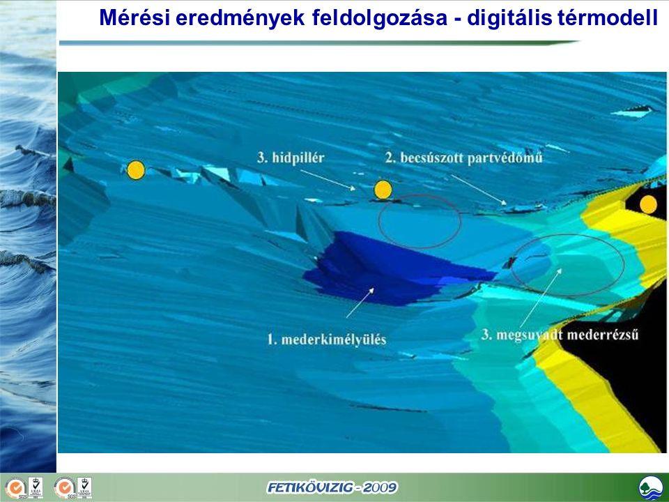 Mérési eredmények feldolgozása - digitális térmodell