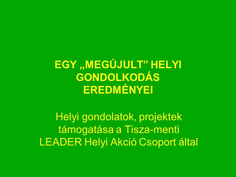 """EGY """"MEGÚJULT"""" HELYI GONDOLKODÁS EREDMÉNYEI Helyi gondolatok, projektek támogatása a Tisza-menti LEADER Helyi Akció Csoport által"""