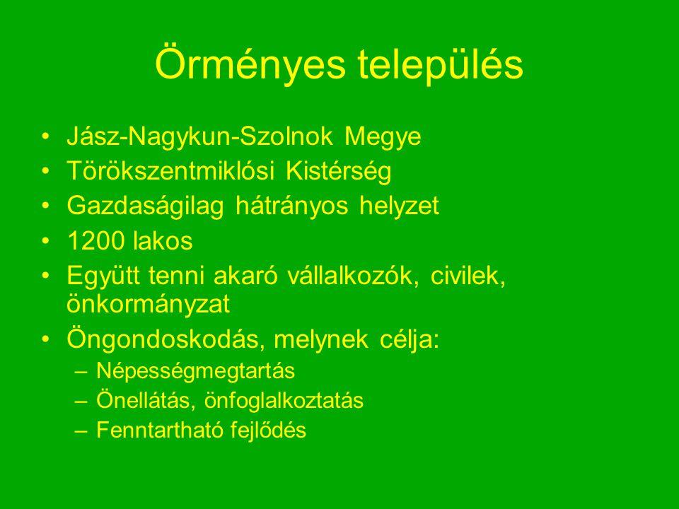 Örményes település Jász-Nagykun-Szolnok Megye Törökszentmiklósi Kistérség Gazdaságilag hátrányos helyzet 1200 lakos Együtt tenni akaró vállalkozók, ci