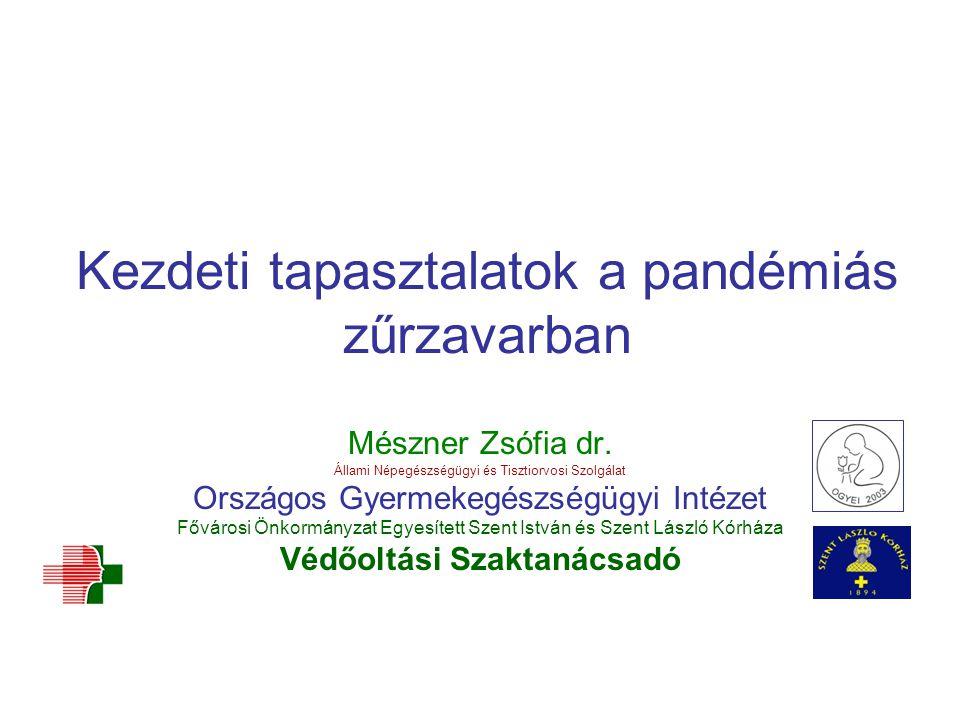Kezdeti tapasztalatok a pandémiás zűrzavarban Mészner Zsófia dr. Állami Népegészségügyi és Tisztiorvosi Szolgálat Országos Gyermekegészségügyi Intézet