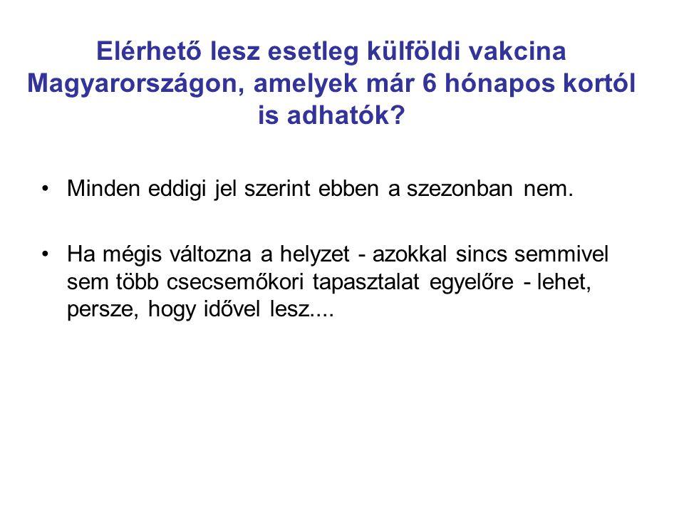Elérhető lesz esetleg külföldi vakcina Magyarországon, amelyek már 6 hónapos kortól is adhatók? Minden eddigi jel szerint ebben a szezonban nem. Ha mé
