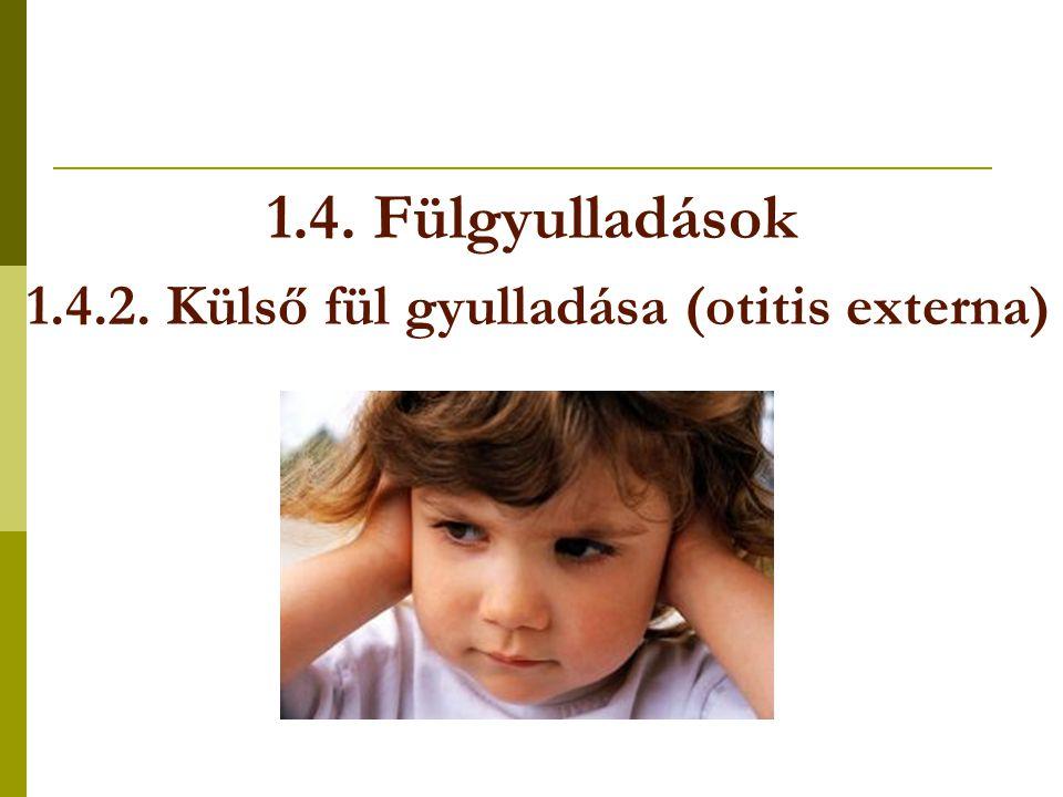 1.4. Fülgyulladások 1.4.2. Külső fül gyulladása (otitis externa)