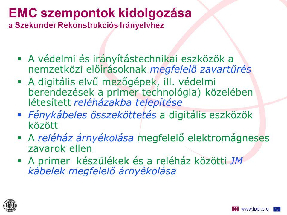 www.lpqi.org Hazai alállomási EMC tevékenység Publikációk folytatás [6] Varjú Gy., Földelőháló potenciál, lépésfeszültség és szekunder kábelezés EMC megfelelőségének vizsgálata , BME Villamosművek Tanszék kutatási jelentése, 2000.