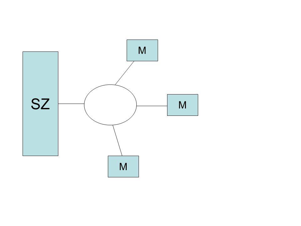 Csillag topológiaCsillag topológia: minden gép külön vezetéken kapcsolódik a szerverhez.