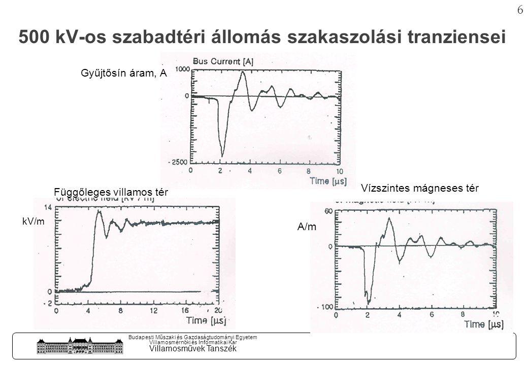 5 Budapesti Műszaki és Gazdaságtudományi Egyetem Villamosmérnöki és Informatikai Kar Villamosművek Tanszék Új típusú szekunder (JM) kábelek Alállomási környezet, Szolnok 120 / 220 kV-os szabadtér