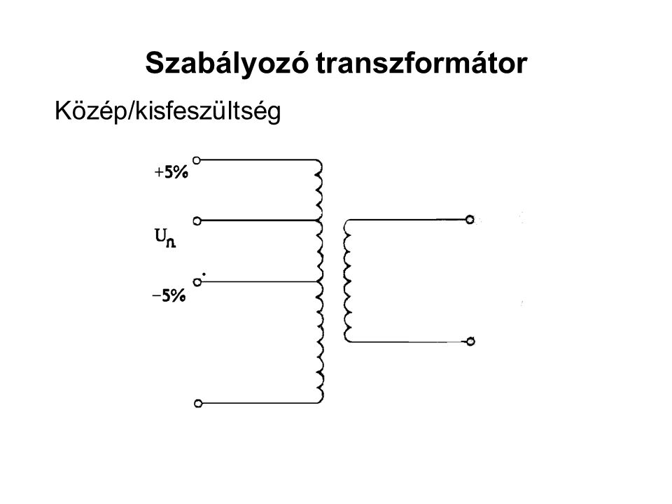 Szabályozó transzformátor Közép/kisfeszültség