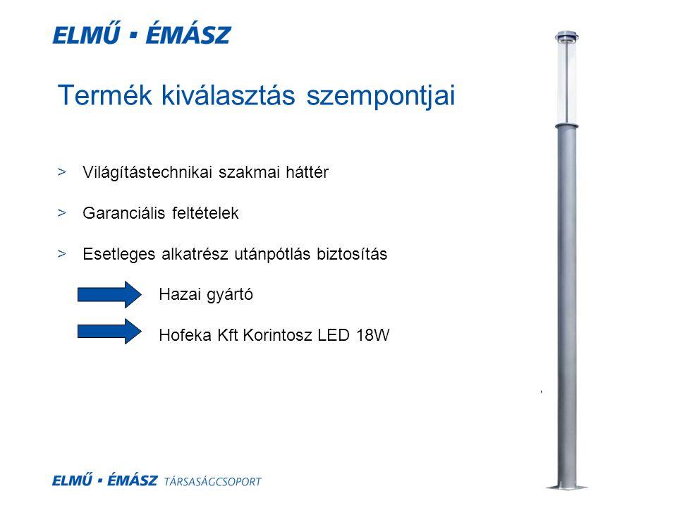 Fénypont magassság 6,5 m4,5 m Osztás távolság 35 m30 m25 m35 m30 m25 m Kf 36 W Max.