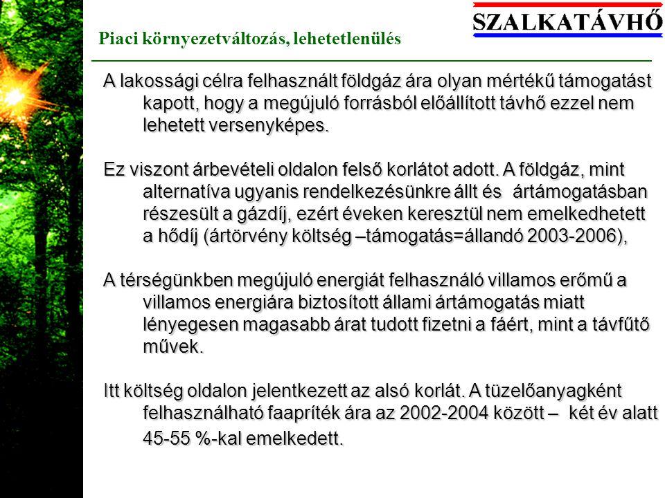 Bio-áramtermelés hőhasznosítás nélkül több széntüzelésű erőmű már átállt és üzemel (Kazincbarcika, Pécs.2002-2003) fa-tüzelőanyag-fogyasztása: 640 et/év hő-értékben: 7488 TJ/év Hasznosítható hő: 6364 TJ/év, ebből hasznosul villamosenergia formájában: 2096 TJ/év, és ami elborzasztó 20-24 % összhatásfokkal eldobott hő: 4268 TJ/év --> 364 et/év fa eldisszipálása GKM (2003) ártámogatással,de ma is 60 db város bio-távhőellátásának tüzelőanyaga lehetne 5-7 MW term -al A fatüzelésű erőművek hőhasznosítás nélkül szaporodtak 2003- óta, a helyzet rosszabb !!